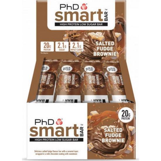 PhD Smart Bar Salted Fudge Brownie 12 x 64gr