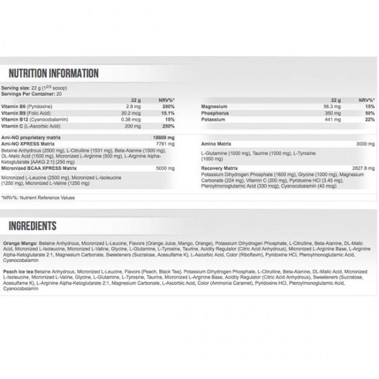 Scitec Nutrition Ami-NO Xpress 440gr Peach Iced Tea