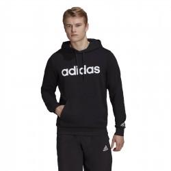 Adidas Essentials Linear Ανδρικό Φούτερ με Κουκούλα και Τσέπες Μαύρο GK9064