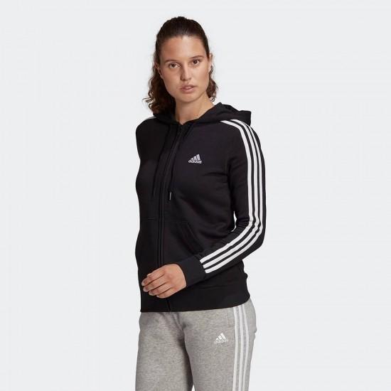 Adidas Essentials Γυναικεία Φούτερ Ζακέτα με Κουκούλα σε Μαύρο χρώμα