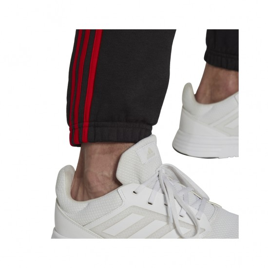 Adidas Essentials Παντελόνι Φόρμας με Λάστιχο Fleece Μαύρο