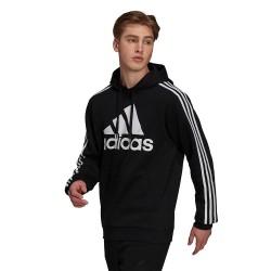 Adidas Essentials Ανδρικό Φούτερ με Κουκούλα και Τσέπες Μαύρο H14641