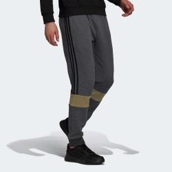 Adidas Essentials Fleece Παντελόνι Φόρμας με Λάστιχο Fleece Dark Grey Heather