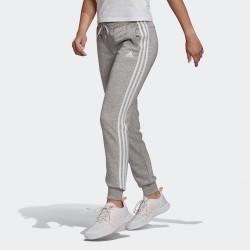 Adidas Essentials French Terry 3-Stripes Παντελόνι Γυναικείας Φόρμας με Λάστιχο Γκρι