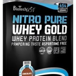 Biotech USA Nitro Pure Whey Gold 454gr Μπανάνα