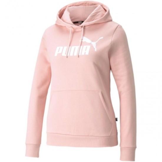 Puma Γυναικείο Φούτερ με Κουκούλα Ροζ