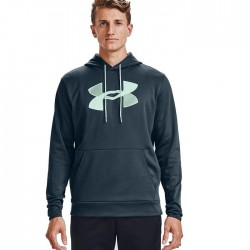 Under Armour Men's Armour Fleece Big Logo Hoodie - Mechanic Blue/Seaglass Blue