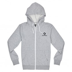 Converse Star Chevron Embroidered FZ Hoodie 10008813-035 Grey