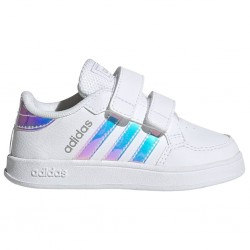 Adidas Παιδικό Sneaker Breaknet με Σκρατς για Κορίτσι Λευκό