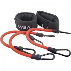 Amila Σετ Λάστιχα Εκγύμνασης Ποδιών Πολύ Σκληρό 88178