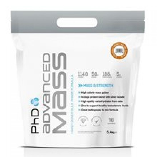 PhD Nutrition Advanced Mass 5400gr Chocolate Fudge Brownie