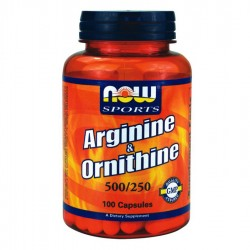 Now Foods L'arginine & Ornithine 100 Caps
